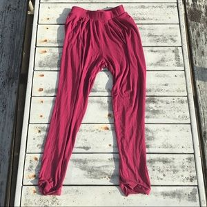 ••asos harem style red high-waisted flowy pants••
